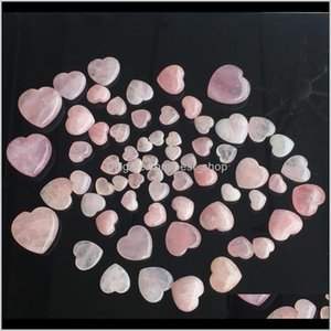 Arts Gifts Home Garden Drop Delivery 2021 Natural Crystals Stones Heartshaped Love Pink Healing Ornaments Carved Arts And Crafts Gemstone Wom