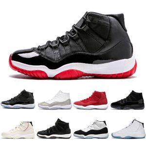 11 11s Баскетбольная обувь Красный Конкорд 45 Высокий Металлический Серебряный Космический Варенье Мужская Обувь Человек Спортивные кроссовки Тренер 36-47