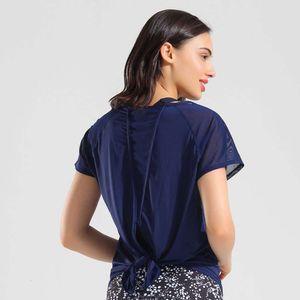 Lulu same blouse women's loose ice Yoga T-shirt short sleeve