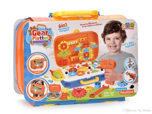 276pcs Portable Gear Platter 6in1 Creative Gear Toys Building Blocks DIY 3D Puzzle Bricks Model Learning Education Design Kids Gift