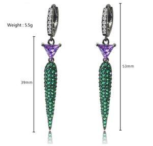 Diamond Angle geometry crystal jewelry storne 925 silver diamond lady's earings 22.92