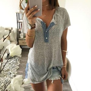 Женская модная блузка Топы женский свободный с длинным рукавом блуза рубашка повседневная уличная одежда повседневная хлопковая кнопка блузка # T1P