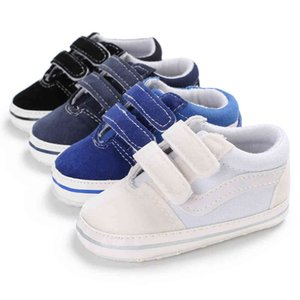 Newborn Infant Toddler Kids Baby Boys Pre-Walker Soft Sole Pram Shoes Fashion Canvas Sneakers First Walkers Trainers 0-28M Y0407