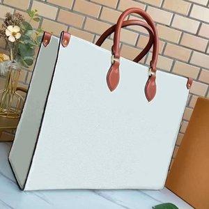 Designer Onthego 2021 SS Ladies Crossbody Bag Vintage Handbag Plain Classic Letter Cowhide Double Handle Delicate Tote Bags Women Fashion Shoulder Handbags Totes