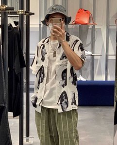 2021 Nova Marca de Moda Wacko Maria Co Branded Bob Hawaiian Camisa Manga Curta