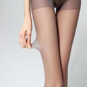 Spring and autumn thin lazy steel stockings pantyhose flesh color high elastic silk slip hook bare leg Leggings