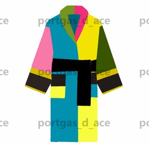 Multicolor Bath Robes Womens Mens Lovers Dressing Gowns Vintage Style Comfortable Cotton Bathrobe Winter Warm Morning Dress