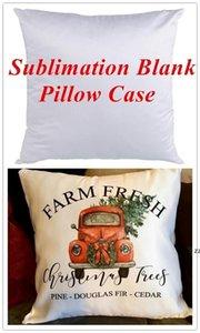 Plain White Sublimation Blank Pillow Case Fashion Cushion Pillowcase Cover for Heat Press Printing Throw Pillow Covers Decorative HWF10525