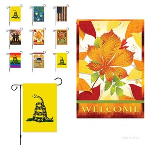 Banner Flags Bicycle House Garden flag 30*45cm linen Flag yellow snake outdoors Party Supplies 8style T2I51865