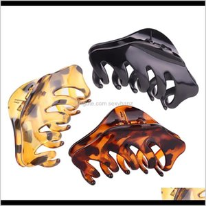 Clamps Claws Large Shape Banana Barrettes Black Brown Turtle Hairpins Accessories For Women Hair Clip Clamp Yb007 Hmzgl 2Qil8