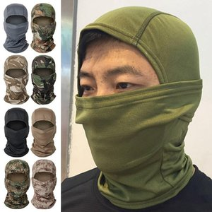 Tactical Camouflage Balaclava Full Face Mask CS Wargame Army Hunting Cycling Sports Helmet Liner Cap Military Multicam CP Scarf Caps & Masks