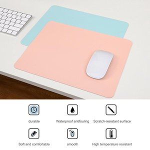 Mouse Pads & Wrist Rests PU Easy Clean Non-Slip Gaming Desktop Pad Waterproof Anti-Scratch Double Sided Solid Color Mice Mat For PC Laptop