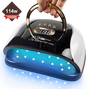 Nail Dryers 114w UV Dryer Lamp With Automatic Sensor 57 LED Light For All Gels 4 Timer Professional Manicure Pedicure Epuipment