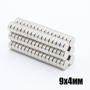 Wholesale - In Stock 50pcs Strong Round NdFeB Magnets Dia 9x4mm N35 Rare Earth Neodymium Permanent Craft DIY Magnet
