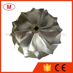 GTP38R 729567-0001 51.03 61.98mm 6+6 blades High Performance Turbocharger Turbo Billet compressor wheel Aluminum 2618 Milling wheel for Ford 7.3L Cartridge CHRA Core