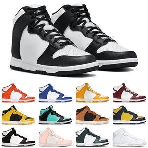 2021 Men Women SB Dunk High Black White Casual Shoes Kentucky Syracuse Spartan Green Vast Grey Dark Sulfur Mens Sneakers