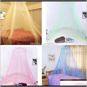 Bedding Supplies Textiles Garden Drop Delivery 2021 Top Round Mosquito Net Hung Dome Tents Baby Adults Ceiling For Home Decor Hanging Bed Val