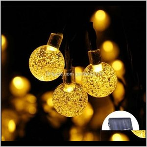 Decorations 50 Leds 10M 5M Crystal Ball Lamp Power Led String Fairy Lights Solar Garlands Garden Christmas Decor For Outdoor 201211 Ej 5Oyzt