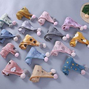 Korean fashion autumn winter new hairball boys and girls baby cotton lace versatile warm triangle scarf