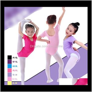Dancewear 2 Designs Candy Colors Cotton Solid Shapewear Onepieces Kid Girls Ballet Jumpsuits Dance And Leisure N1835 C44Mb B4Xhe