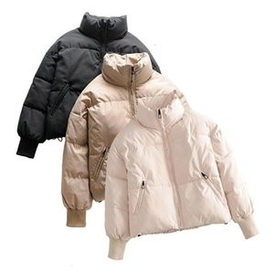 Down New Winter Women's Jacket High Quality Solid Coats Womans Cotton Casual Jackets Warm Parkas Female Overcoat Streetwear