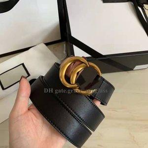 "Luxury Designer Belts Genuine Leather Belt Men Women Fashion Big Gold Casual Letter Smooth Buckle""Gg""belt High Quality 2.0cm 3.0cm 3.4cm 3.8cm Width with free Box"