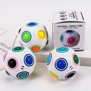 Favor Favor DHL Creative Spheric Magia Arco-íris Bola de Plástico Puzzle Crianças Educacional Aprendizagem Torção Fidget Cube Brinquedos para crianças {Categoria}