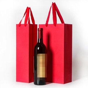 2018 new creative packaging bags paper gift box with string for red wine oil champange bottle carrier gift holder wine packing1 652 R2