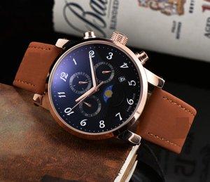 Erkek Saatler 40mm Deri Otomatik Hareket Reloj de Lujo Sapphire 5ATM Su Geçirmez İzle