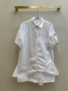 2021 Black White Long Sleeve Lapel Neck Milan Runway Shirts Designer Shirts Brand Same Style Shirts 0607-4