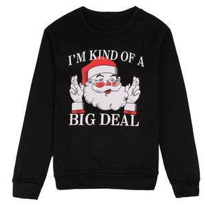 New Stylish Unisex Merry Christmas Women's Jumper Pullovers Santa Claus Xmas Letter Long Sleeve Sweatshirt Hoodie Couple Clothes