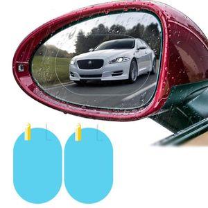 Car Sunshade 2Pcs Rearview Mirror Anti Water Film Sticker For Lifan X60 Cebrium Solano Celliya Smily Geely X7 EC7