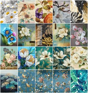 Paintings AZQSD Coloring By Numbers Flower HandPainted On Canvas Painting Daisy Rose Wall Decoration Gift