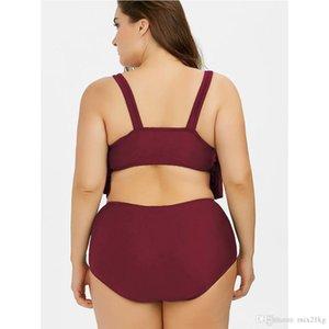 Set de bikini de la cintura altas de la cintura de alta cintura para las mujeres Sexy sexy traje de baño de gran tamaño traje de baño Biquini Beach Wear Maillot de Bain