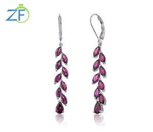 Dangle & Chandelier 925 Sterling Silver Drop Earrings Luxury Crystal Long Fashion Korea Jewelry