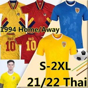 1994 ROMANIA HAGI RETRO VINTAGE HOME AWAY 21 22 Romania Soccer Jerseys Alexandru Cicaldau Ianis Dennis Man Marin football shirt