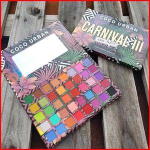 Cocourban 40 Cores Carnaval III Amor Tahiti Sombra Ultra Olho Palette Shadow Shimmer Matte Maquiador Cosméticos Paletes