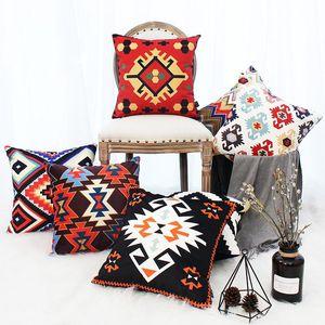Trend Exotic Cushion Cover Geometric Elements Pillow Home Cojines Decorativos Para Sofa Housse De Coussin Pillowcases Cushion Decorative