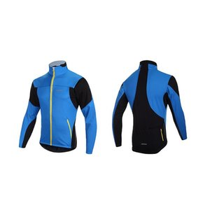 Racing Sets SAHOO Cycling Jacket Jersey Bike Bicycle MTB Outdoor Sportswear Clothing Shirt-Fluorescent Men's Winter Long Sleeve