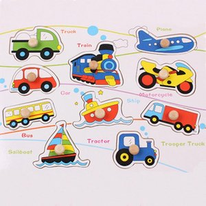 Wooden Vehicle Puzzle Letter Puzzle for Kids