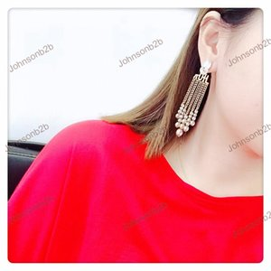 Boucles d'oreilles de luxe Bijoux de mode Big Diographie Charms Silver Gold Plated Marque Designer pour Femmes Filles et Amants DD030