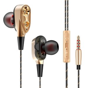 Headphones & Earphones 3.5mm With Mic Earphone Double Unit Drive In Bass Subwoofer Music Stereo For Phone MP3