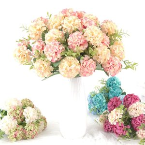 Wedding Decoration Bride Bouquet Peony Artificial Flowers Holding Hand Fake Living Room Garden Home Decor Decorative & Wreaths