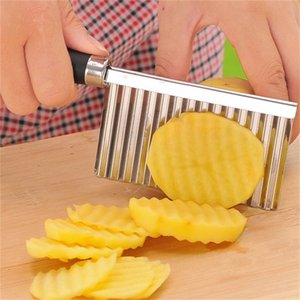 Kitchen Cooking Tool Stainless Steel Vegetable Fruit Wavy Cutter Potato Cucumber Carrot Waves Cutting Slicer 539 R2