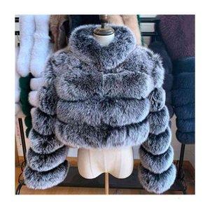 Bayanlar Aşağı Parkas Kış Faux Kürk Palto Kırpılmış Puffer Kabarcık Coat Artı Boyutu Kadınlar Için