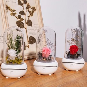 Forever Rose Flower In LED Glass Dome Design Aroma For Essential Oils Valentine's Day Mother's Special Romantic Gift Decorative Flowers & Wr