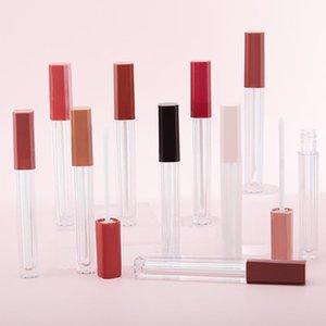 5 unids 4 / 5ml de plástico Lip Blloss Tube DIY Lip Lip Gloss Contenedores Botella Viaje Vacío Cosmético Lipgloss Tubos Maquillaje Organizador Belleza
