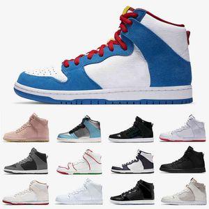 Doraemon Plateforme Femmes Homme Haute Coupe Coupée Chaussures Casual Hi PRM LX Spectrum Bred Mulder Brian Broom Brown Skateboard Baskets Sports Sports