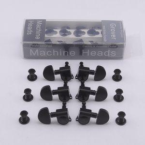 Clearance Sale Tuning Pegs 1Set Original Genuine Guitar Machine Heads Tuners Plastic Button Black Chrome