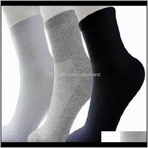 Mens Underwear Apparel Drop Delivery 2021 Men Athletic Sport Basketball Long Cotton Male Spring Summer Running Cool Soild Mesh Socks For All